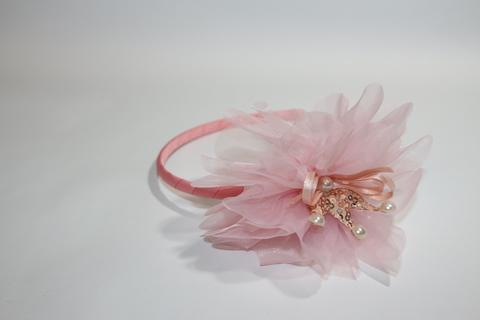 Ободок с цветком и короной (арт.3006 роз)