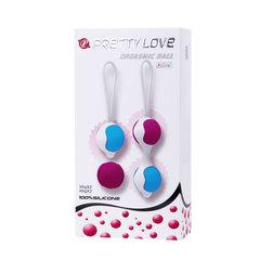 Силиконовые вагинальные шарики со смещенным центром тяжести Pretty Love (3,6 см.; вес 30 и 40 гр)