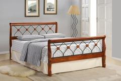Кровать MK-5230-RO 200x160 (MK-5230-RO) Темная вишня
