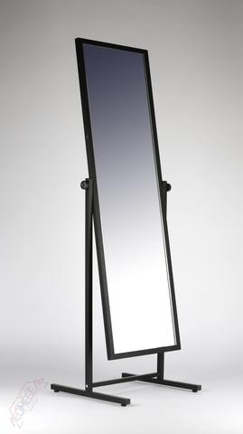 ТД-150-48 Зеркало двухстороннее напольное с колесами (черное)