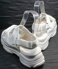 Белые сандали на платформе Small Swan PM23-3 White.