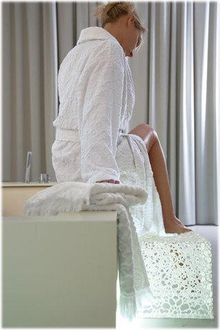 Халат махровый Blanc des Vosges Princess белый