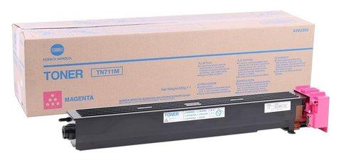 Тонер Konica Minolta TN-711M пурпурный (magenta) (A3VU350)