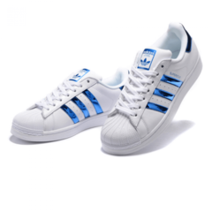 Женские Adidas SuperStar White/Hologram Blue