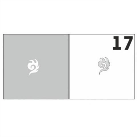 Трафарет для ногтей 6 шт. /1 уп. №17