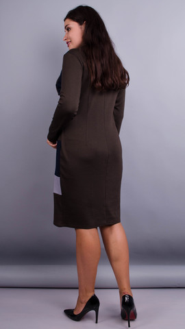 Дженни. Платья больших размеров. Шоколад.