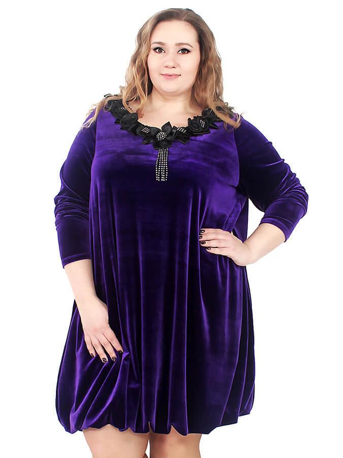 Велюровое платье Блиссе