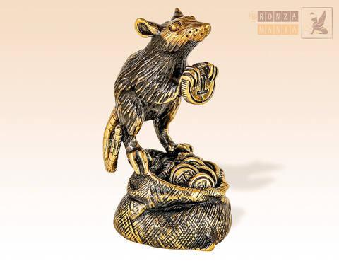 фигурка Крыса денежная на мешке