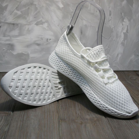 Спортивные туфли женские. Летние кроссовки сетка Small Swan All White