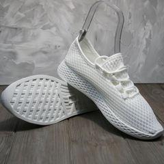 Кроссовки текстильные женские Small Swan NB283-2 All White.