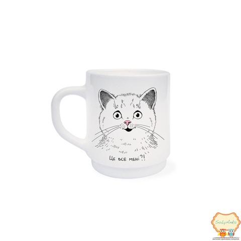 """Чашка детская """"Удивленный котик"""""""