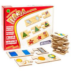 Развивающая игра-пазл из дерева Формы, играем в ассоциации, Анданте