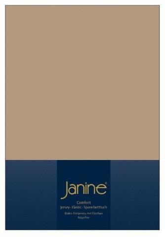 Элитная простыня на резинке Elastic-Jersey 5002 коричнево-бежевая от Janine