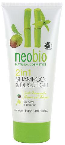 Neobio шампунь-гель 2 в 1 c био-оливой и бамбуком