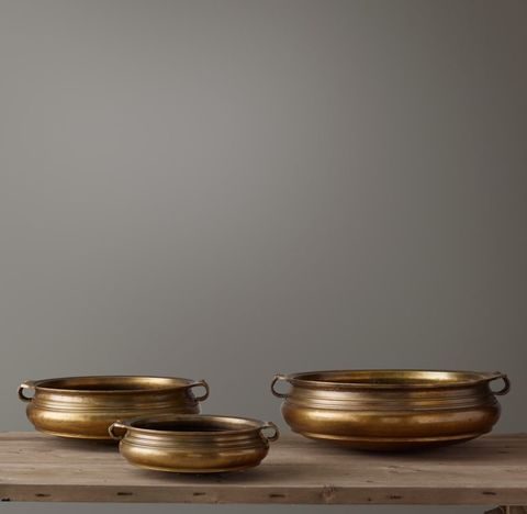 18th C. Brass Indian Urli Bowl Collection