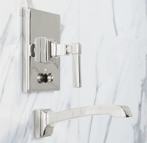 Dillon Lever-Handle Balanced Pressure Tub & Shower Valve & Trim Set with Bath Spout