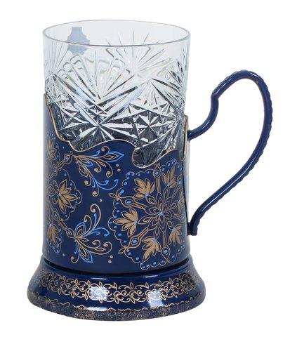 Zhostovo tea glass holder PODS010219012