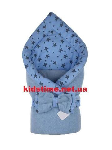 Конверт для новорожденных на выписку Звездное небо голубой