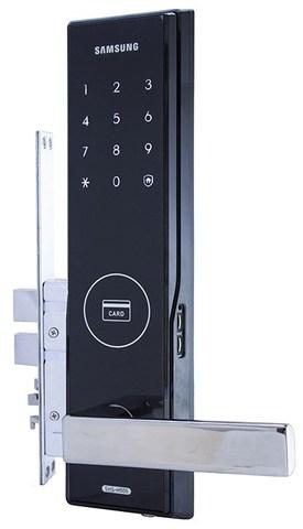 Врезной электронный дверной замок Samsung SHS-H505/5050 Black