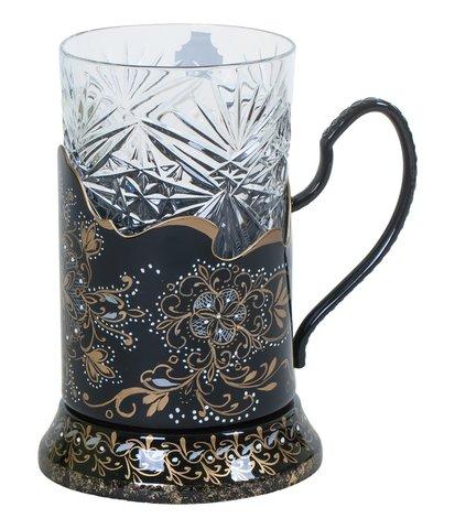 Zhostovo tea glass holder PODS010219013