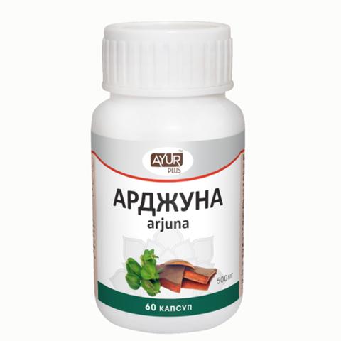 Арджуна Аюр Плюс, 500 мг, 60 капсул