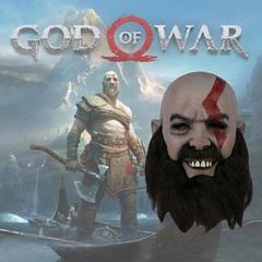 Бог Войны 4 маска латексная Кратос 2018