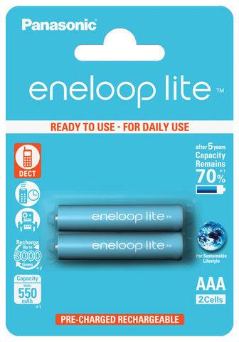 аккумулятор Panasonic 550 mAh R03/AAA Eneloop Lite-2BL