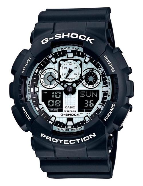 Часы мужские Casio GA-100BW-1A G-Shock