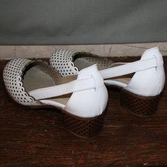 Женские туфли летние Evromoda 101-6 White.