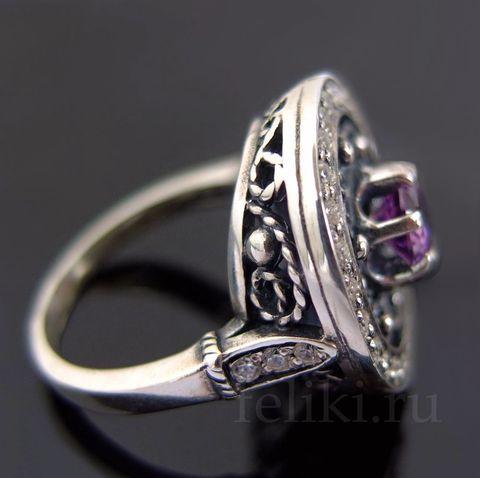 кольцо с аметистом кс-7168