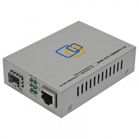 Медиаконвертер SNR-CVT-1000SFP-V2
