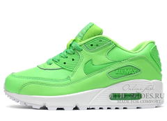 Кроссовки Женские Nike Air Max 90 Green White Leather