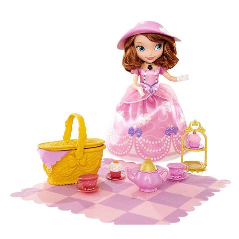 Интерактивная Принцесса София набор пикник-чаепитие с кроликом Клевером - Sofia the First, Mattel