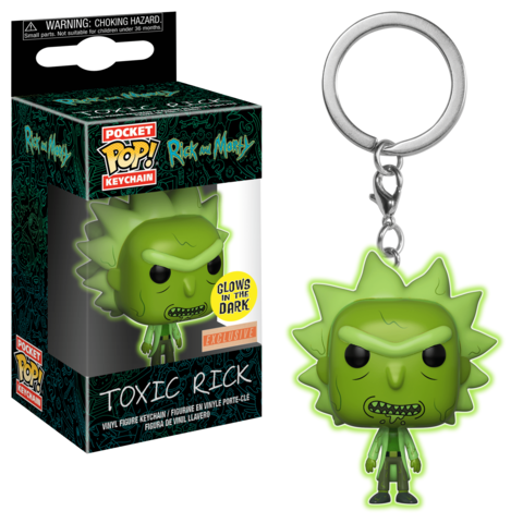 Брелок Funko Pocket POP! Keychain: Rick & Morty: Toxic Rick GITD (Exc)