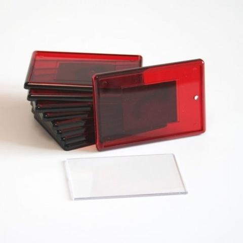 Акриловый магнит 52х77 мм с тиснением, красный