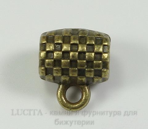 """Бейл """"Шахматный"""" (цвет - античная бронза) 10х9х7 мм"""