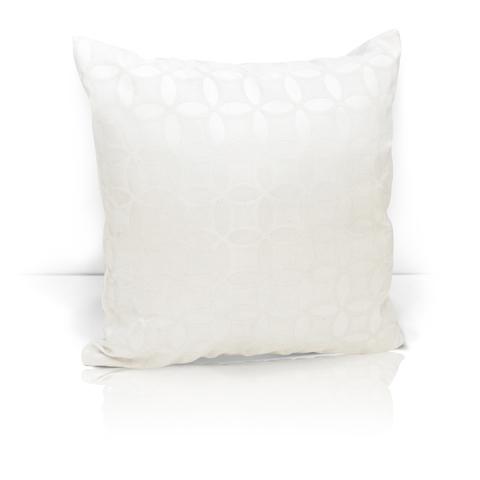 Подушка декоративная из двустороннего жаккарда Любава белый