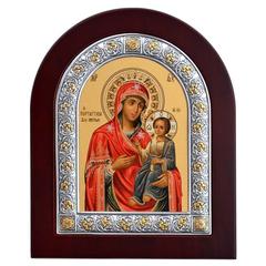 Вратарница. Иверская икона Божьей Матери в серебряной раме.