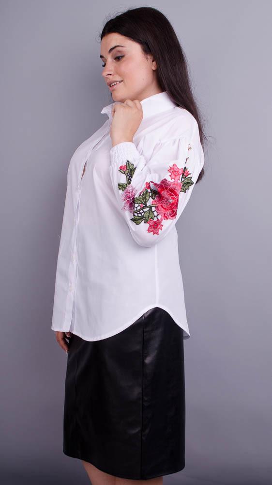4d2adc074f5e047 Юсмина. Стильная блуза плюс сайз. Белый. - купить по выгодной цене ...
