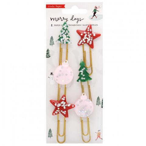 Набор закладок - Merry Days Decorative Clips - 6 шт
