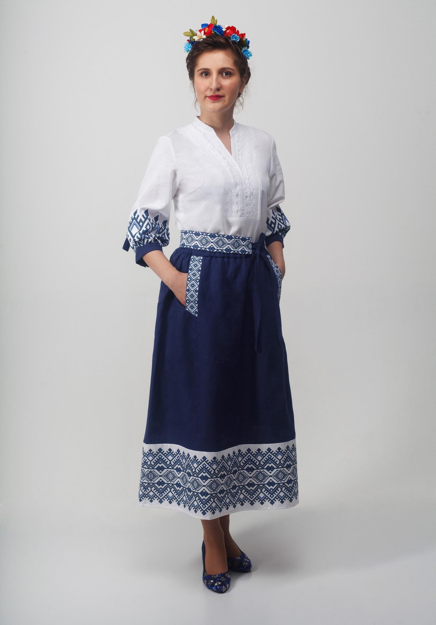 Блуза Родные узоры с юбкой