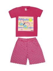 DL11-73-5-28 Комплект детский, малиновый (футболка+шорты)