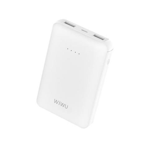 Аккумулятор WiWU JC-01 (10000 mAh, Dual USB) белый