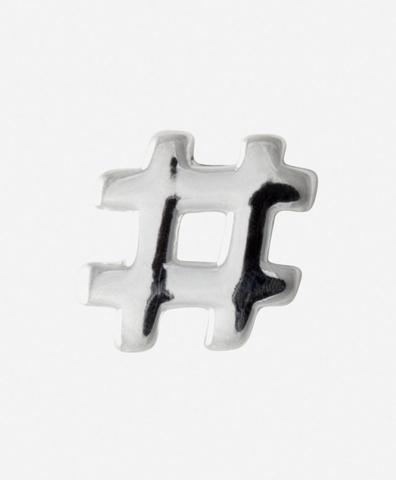 Моно-серьга Hashtag Silver