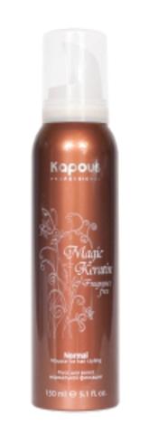 Мусс для укладки волос сильной фиксации с кератином,Kapous Magic Keratin,150 мл