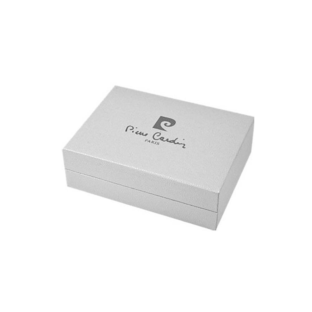 Зажигалка Pierre Cardin кремниевая газовая, цвет серебристый/черный лак, 3,5х0,9х6,9см