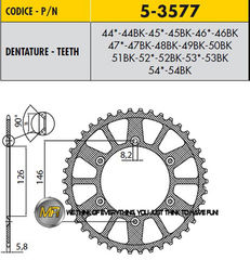 Звезда задняя ведомая Sunstar Rear Sproket 5-3577-51 для мотоцикла Husaberg Husqvarna KTM