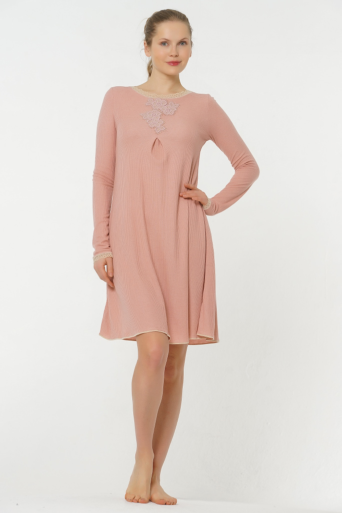Розовое домашнее платье Valery (Домашние платья и ночные сорочки)