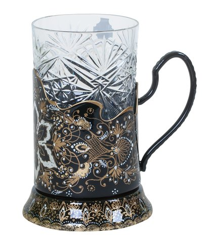 Zhostovo tea glass holder PODS010219014