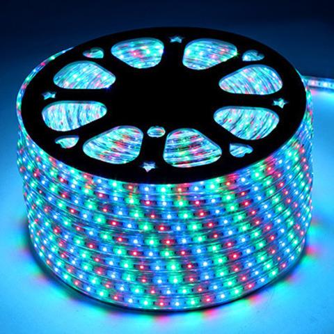 Светодиодная лента SMD5050/60, 220V влагозащищенная. RGB.